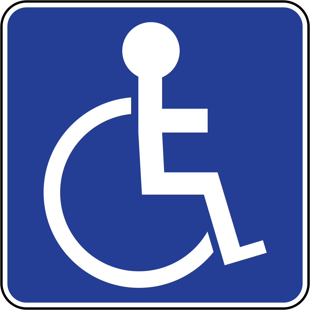 1 x Wheelchair Ramp Access Disabled Sticker-Disability ...
