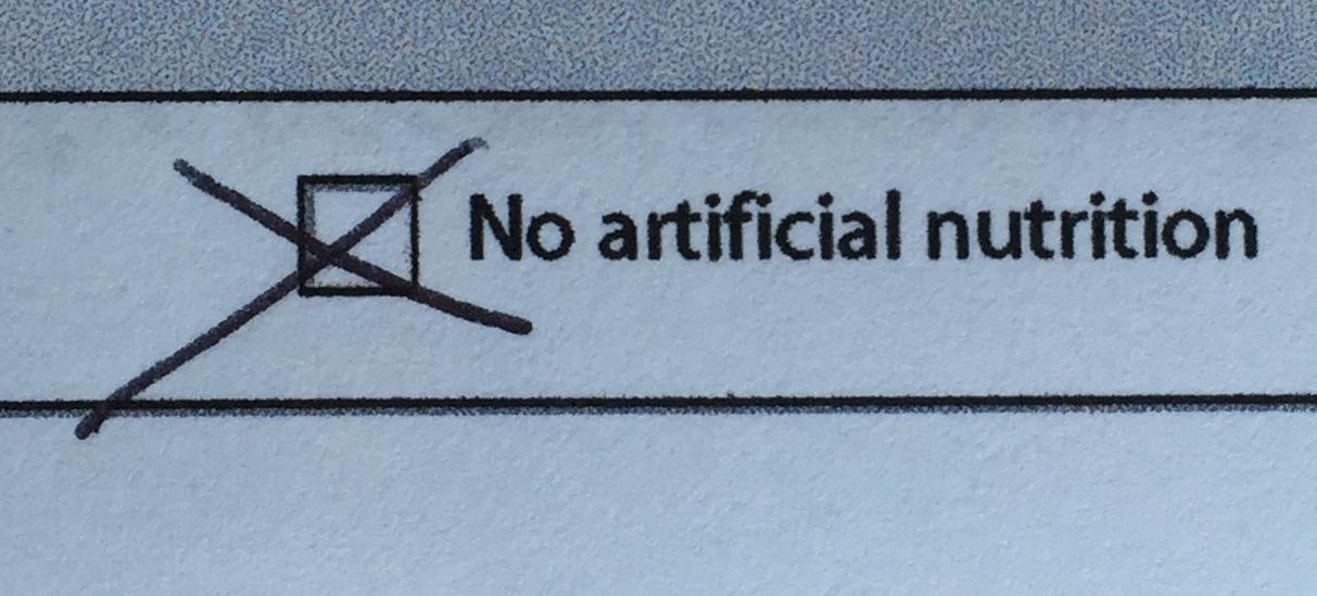 no artificial nutrition order